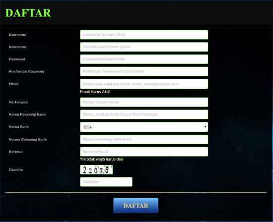 cara daftar game poker online poker1one